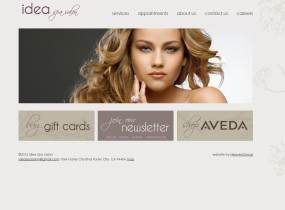 Idea Spa Salon homepage
